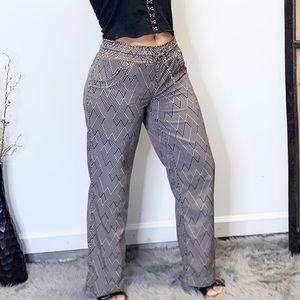 Freestyle revolution chevron print pants sz L